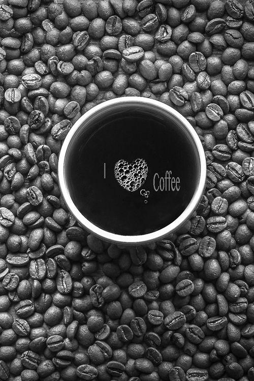 """Olá, bom dia! Um bom café para começar a semana com tudo!! """"Eu amo café"""""""