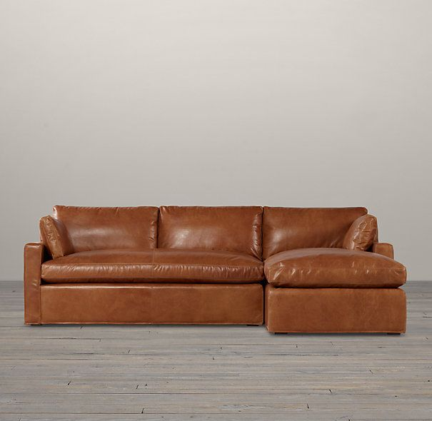 Belgian track arm leather sofa chaise sectionals kid for Kid friendly sectional sofa
