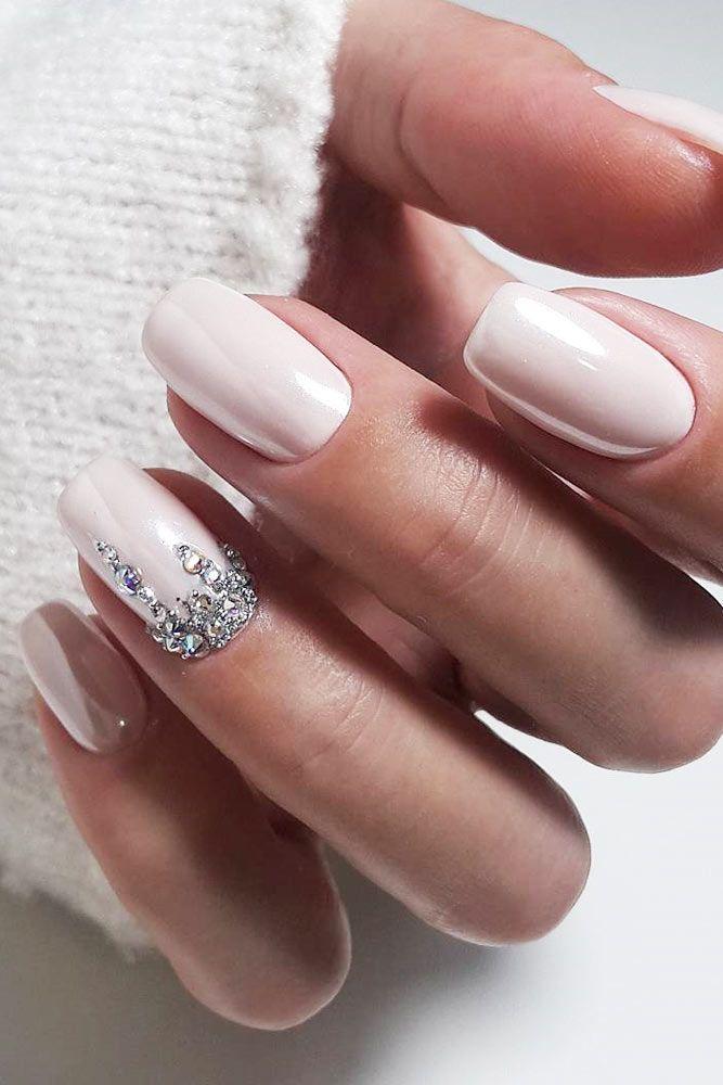 39 Exquisite Ideas Of Wedding Nails For Elegant Brides Wedding Day Nails Bride Nails Nail Art Wedding