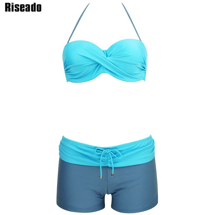 awesome Riseado 2017 Sexy Bikini Set Swimwear Women New Summer Push Up Swimsuit Strap Shorts Beach Wear Summer Bathing Suits