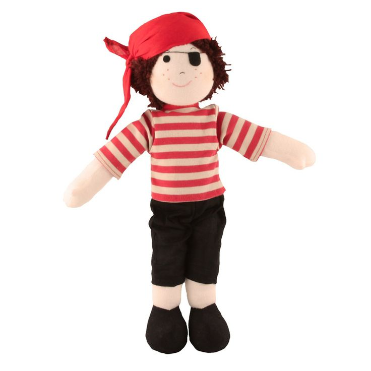 Imajo Rag Doll Pirate Eventually a doll for a boy, what a brilliant idea. This pirate is 40cm tall. He is  suitable for all ages and come with a CE label. All Imajo Rag Dolls are very soft and huggable. Imajo Dolls are made in  Sri Lanka supporting local business in sourcing local material. Imajo…