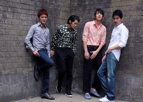 Mark Chao, Shaofeng Feng, Kim Beom y Kevin Lin, reparto de Detective Dee. The Prequel.