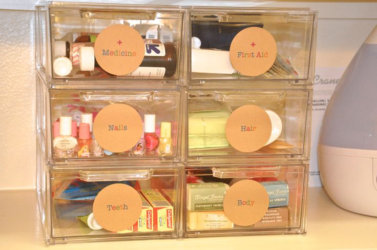 Shoe drawers for bathroom organizers