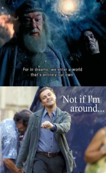 Not if I'm around!Laugh, Dreams, Harry Potter Memes, Harrypotter, Inception, Too Funny, Movie, Leonardo Dicaprio, So Funny