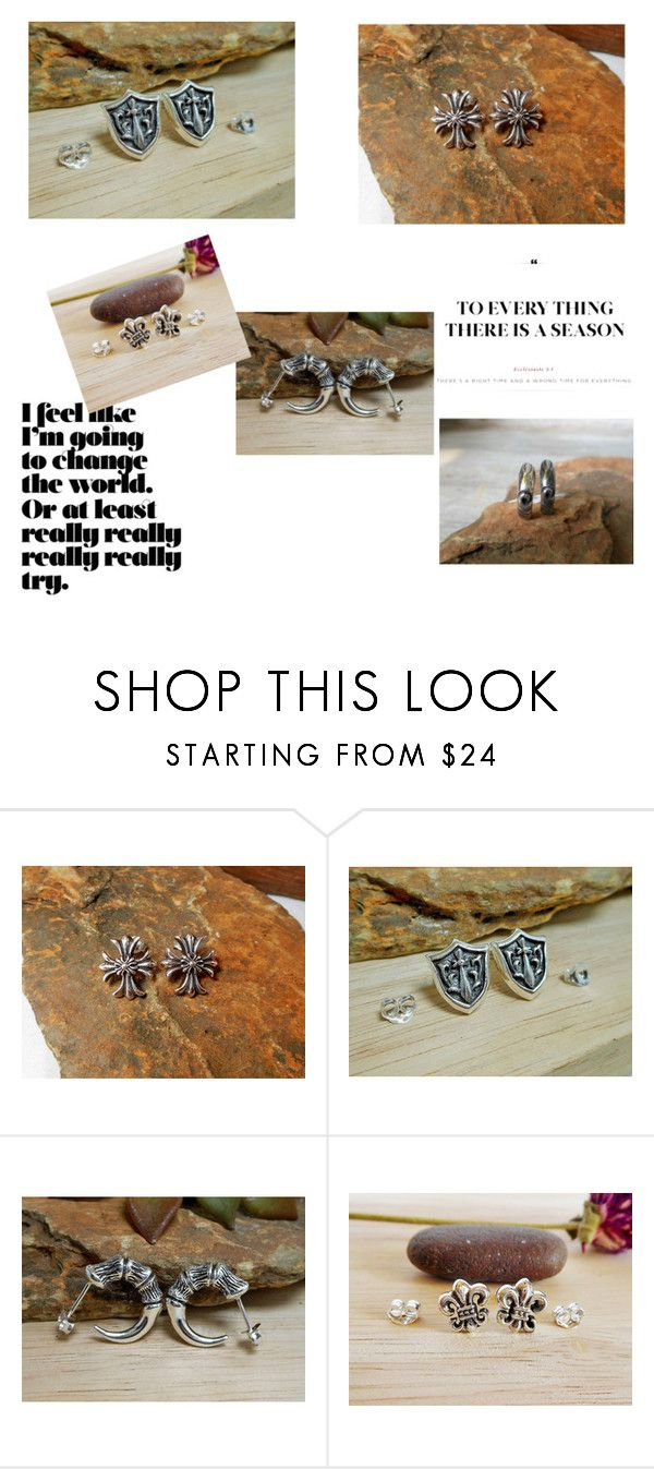 """Men Earrings"" by supsilver on Polyvore featuring men's fashion and menswear"