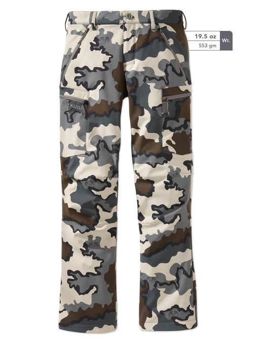 Guide Soft Shell Pant. Lightweight, breathable fabric for comfortable tactical hunting. Available in camouflage. Shop KUIU lightweight hunting pants online.