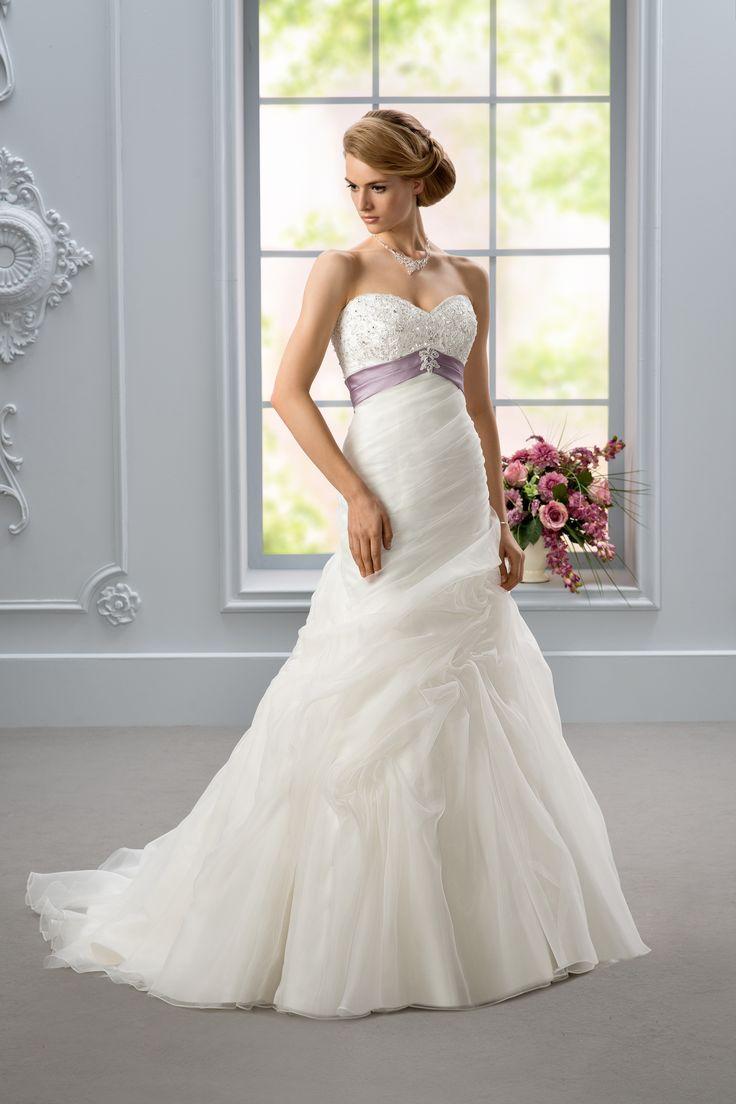 88 best Color Accent Brides images on Pinterest   Wedding frocks ...