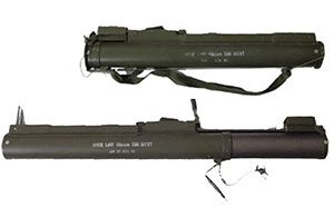 M72 LAW Rocket LauNchers -The LAW 66mm is a one-shot disposable rocket launcher that is highly effective against soft skinned vehicles and light armour, up to a range of 200 meters. Description from battlefield.play4free.com. I searched for this on bing.com/images