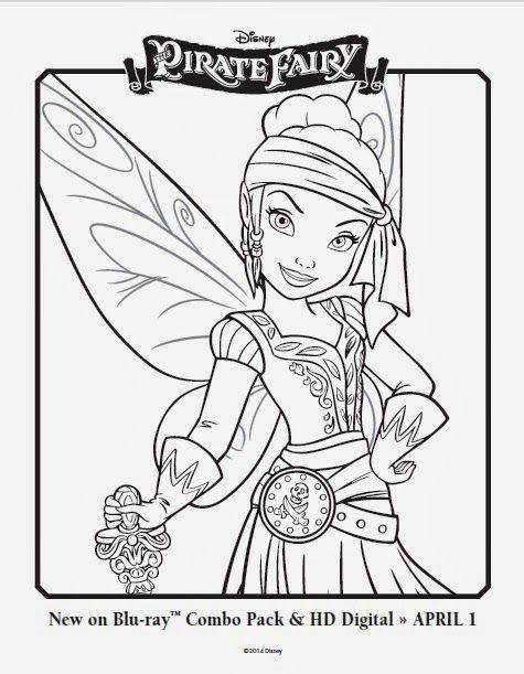 Free Disney Fairies printable coloring pages featuring ...