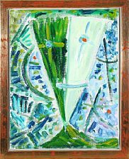 Egill Jacobsen: Grøn maske, 1995. 37 x 29, olie på lærred. Bruun-Rasmussen, vurd. 30.000.