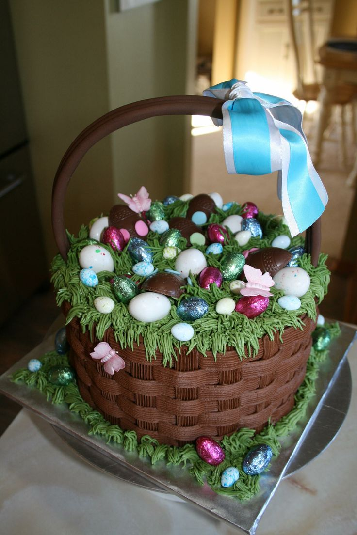 How To Make Flower Basket Cupcakes : Best images about easter on cakes eggs and