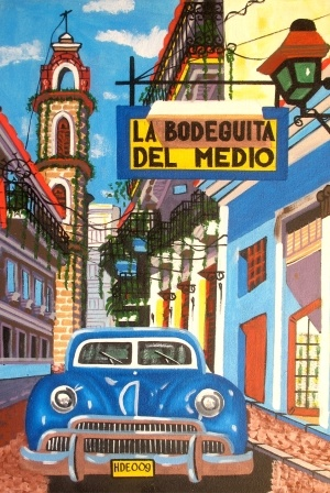 La Bodeguita del Medio..reminds me of a place I went to in Cancun...same name...good food & lots of dancing!!!