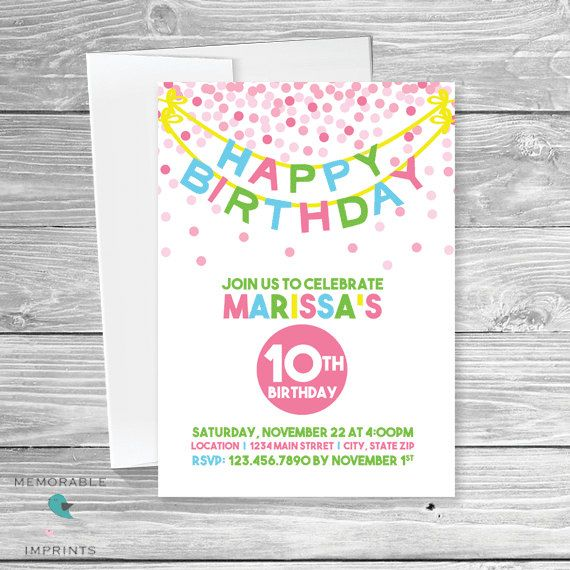 simple birthday invites