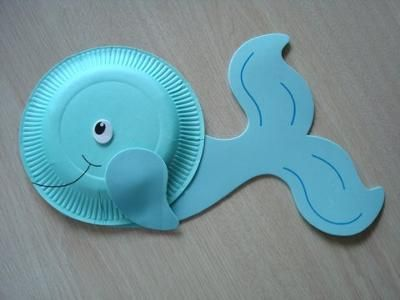 Preschool Crafts for Kids*: Whale Paper Plate Craft