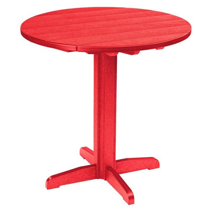 Outdoor CR Plastic Generations 37 in. Round Pub Height Table Red - TBT23-01