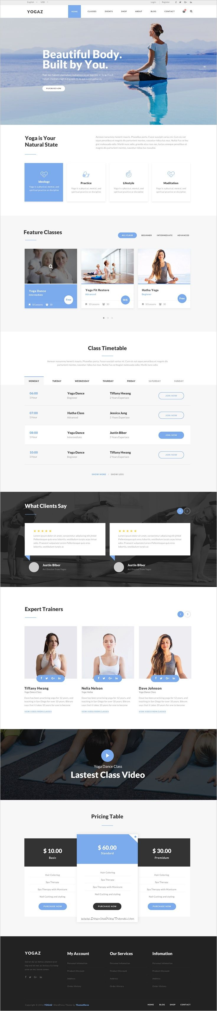 Yogaz is a niche #Photoshop #theme designed specially for #yoga center or any sport clubs website with 4+ homepage layouts download now➯ https://themeforest.net/item/yogaz-healthy-beauty-yoga-psd-template/17180442?ref=Datasata