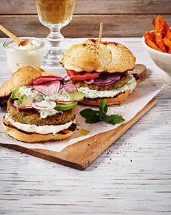 Best ever veggie burgers! #vegetarian #eatwell #meatfree