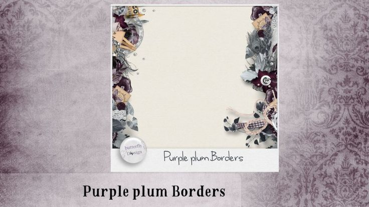 Purple Plum [Page Borders] by butterflyDsign