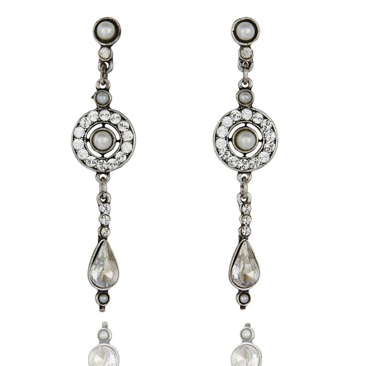 """Peter Lang """"Elise"""" pearl and swarovski earrings"""