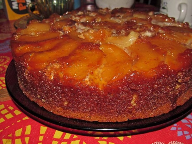 Receita de Bolo invertido de maçã no liquidificador - Tudo Culinária