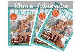 ELTERN VORTEILSWELT und ELTERN Wissen verlosen zehn Mal ein Jahres-abo des ELTERN Magazines im Wert von 50,40€.