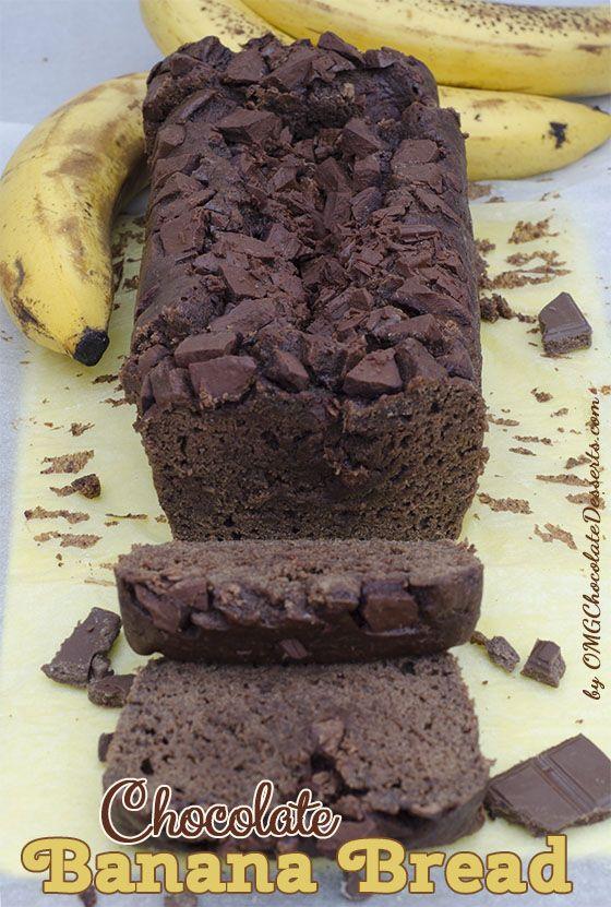 Chocolate Banana Bread | OMG Chocolate Desserts