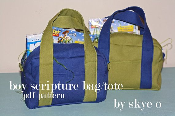 Sewing pdf PATTERN for scripture bag/tote.    INCLUDES:  10 page detailed pdf pattern with pictures.    Pattern will be sent by instant download after