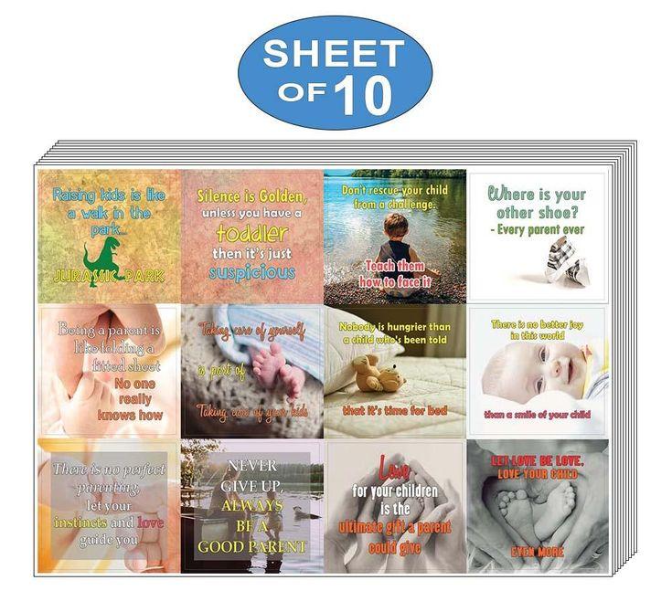 Creanoso Funny and Inspiring Parenting Quotes Stickers (10 ...