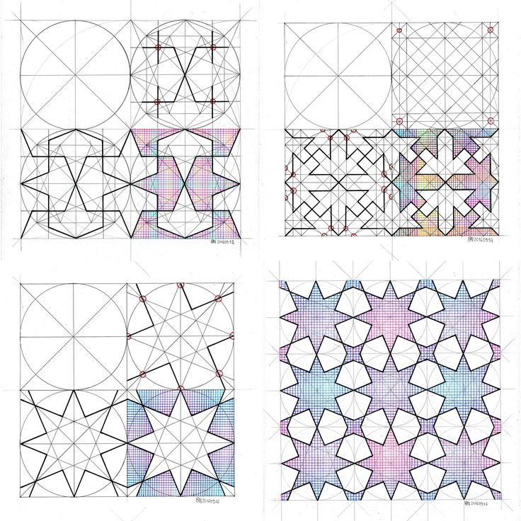 #islamicart #islamicpattern #islamicgeometry #arabianart #geometry #symmetry #pattern #handmade #escher #mathart #regolo54