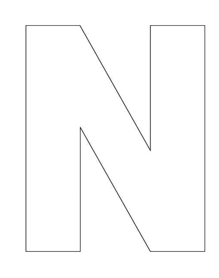Printable Alphabet Letter N Template! Alphabet Letter N Templates are