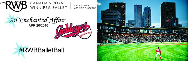 Enter to win a Private Skysuite for 18-21 guests at one (1) Winnipeg Goldeyes Game at this years Ballet Ball #RWBBalletBall