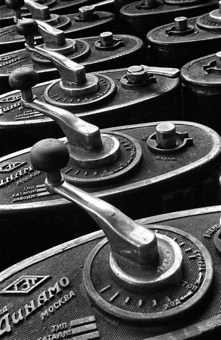"""Control levers, 1930. Dinamo factory, Moscow. From the series """"Freeing ourselves from dependence on imports""""."""