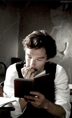 Benedict. Forget what I said about men with animals...its men and books. Definitely men with books.
