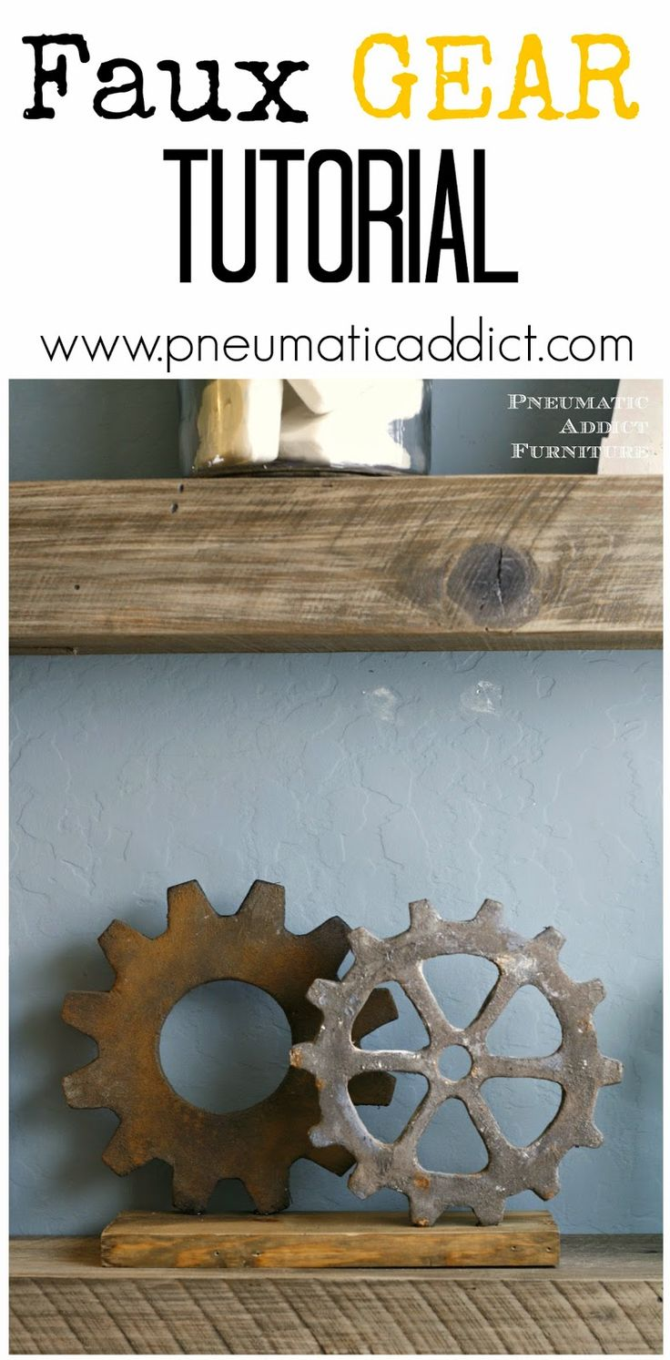 How to make inexpensive, faux gears at home. Great for industrial decor.