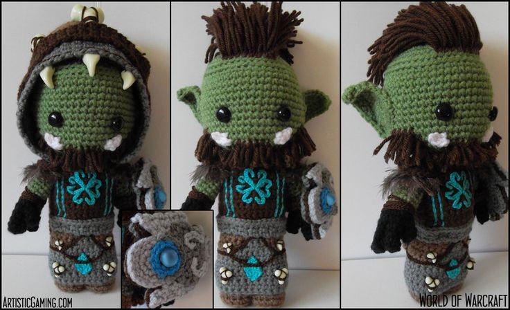World of Warcraft - Orc Custom Sackdoll by ~GamerKirei on deviantART