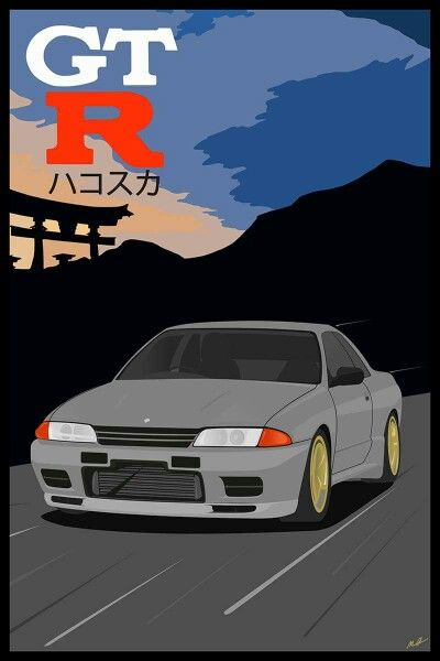 R32 Nissan Skyline print I finished for my brother's birthday.