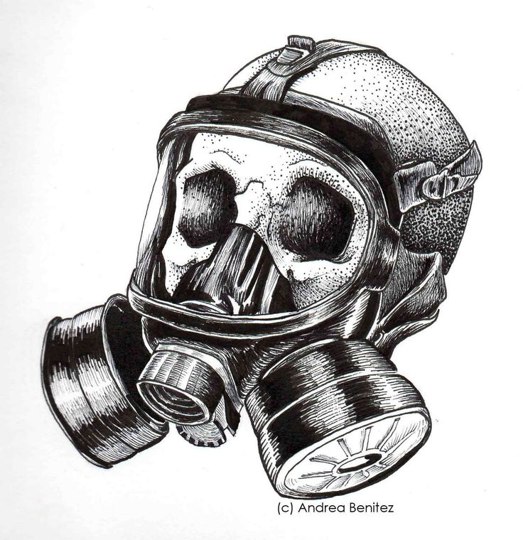 The gas mask is a mask...