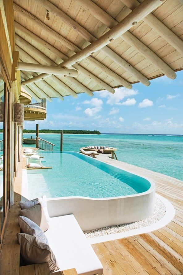 A pool at Soneva Jani, the hottest new resort in the Maldives. Read our exclusive review here