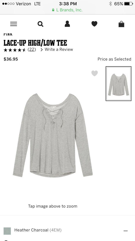 PINK shirt on Victoria secret website