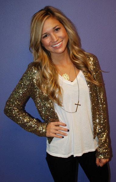 Glittered blazer w/ lbd... NYE outfit.
