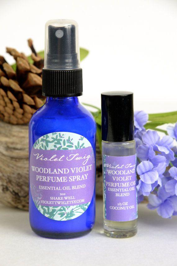 Natural Violet Perfume Violet Flower by VioletTwigAromatics