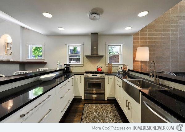 Best 25+ Contemporary u shaped kitchens ideas on Pinterest White - u shaped kitchen design