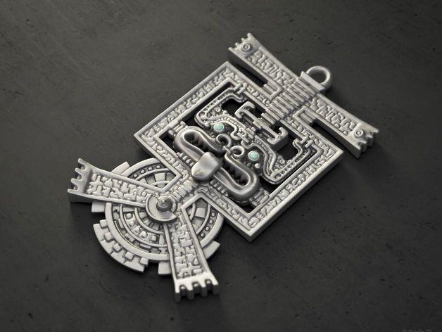 Aztec pendant by Markellov - Thingiverse