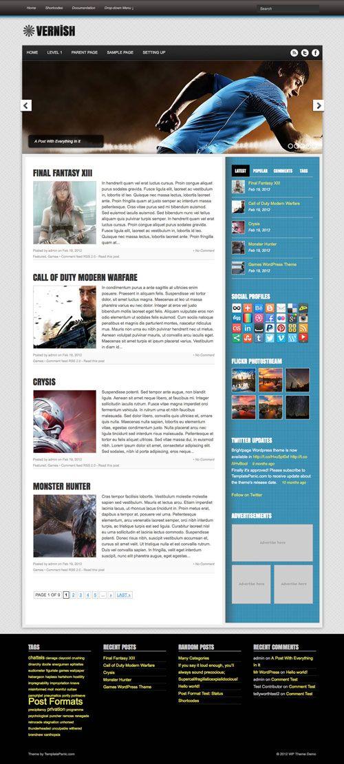Vernish Wordpress Theme | TemplatePanic.com