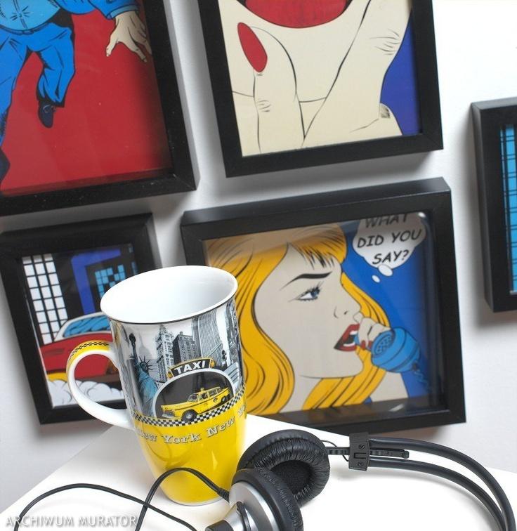 Pokój młodzieżowy, dla nastolatków, urządzono w stylu komiksowym. Kolorowe dodatki w styl pop art to motywy naśladujące komiksy i reklamy. Fotel z komiksową tapicerką może być zabawnym akcentem stylistycznym we wnętrzu. Elementy komiksu mogą też zagościć na ścianach i podłodze, nadając im humorystyczny charakter.