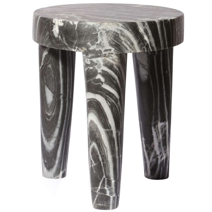 Three Legged Marble Stool by Kelly WearstlerLegs Stools, Kellywearstler, Leaders Hall, Kelly Wearstler Marbles Stools, Wearstler Tribute, Furniture, Three Legs, Design, Tribute Stools
