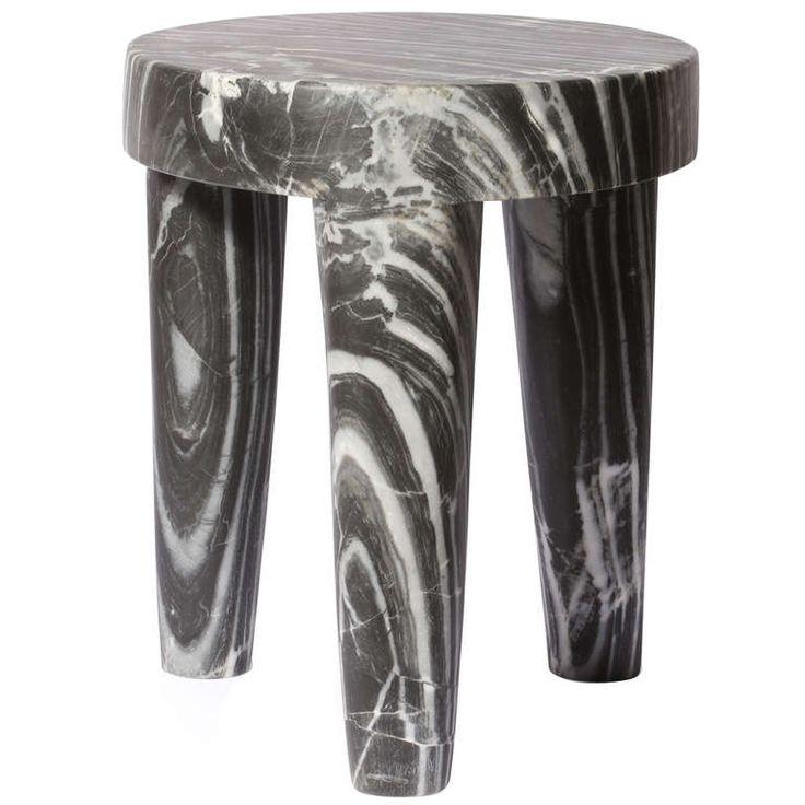 Three Legged Marble Stool by Kelly Wearstler