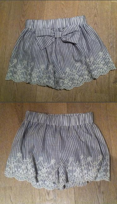 The embroidery & the bow, cute!! Shorts by Madame Shou Shou
