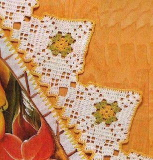 Resultado de imagem para barrados de croches
