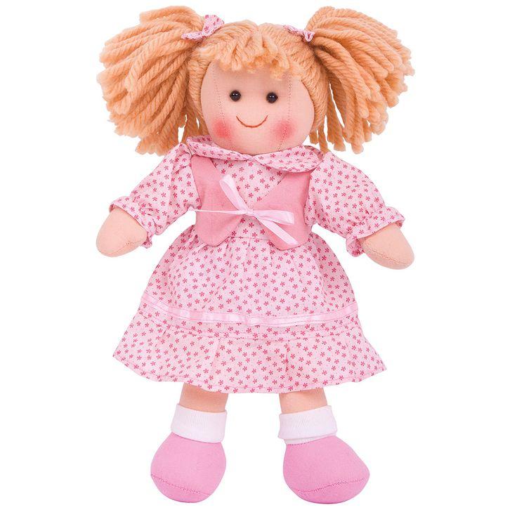 Maak kennis met Sophie! De poppen van BigJigs zijn erg schattig met een fijne zachte stof. Sophie draagt een mooi Roze jurkje. De kleding van Sophie kan aan- en uitgetrokken worden en is met de hand uitwasbaar. Voldoet aan de huidige Europese veiligheidsnormen. Hoogte: 28cmBreedte: 18cmGewicht: 100 gram - BigJigs Pop Sophie 28cm